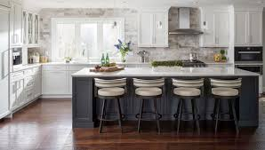 kitchen with black island and white cabinets 30 stylish and kitchens with light and contrasts
