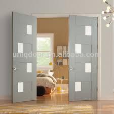 double bedroom doors modern double shaker door with small pieces glass for bedroom buy