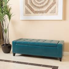 Aqua Storage Ottoman Guernsey Faux Leather Storage Ottoman Bench By Christopher