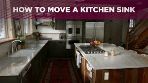 how to move a kitchen sink video diy