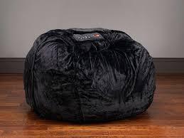 black bean bag chair big media black lounger u2013 monplancul info