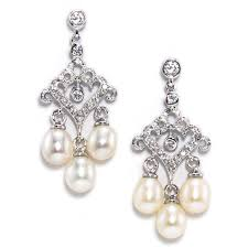 petite chandelier a dainty and petite chandelier earring ornate scallops with pave