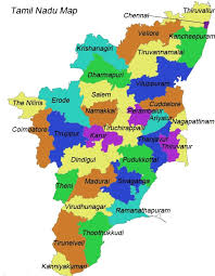 tamil nadu map tourists states cities maps of india