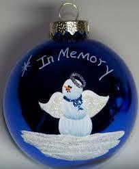 christmas ball ornaments memorial angel christmas ornament by
