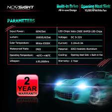 led light bulbs for cars novsight led headlight h5 h7 for car