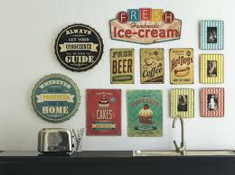 plaque deco cuisine retro decoration murale cuisine vintage plaque