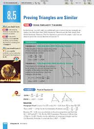 ml geometry 8 5 proving triangles are similar