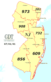 jersey area code map nj area code map gif