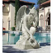 outdoor angel statues christian art more themes design toscano