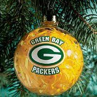 football fans green bay packers ornament 1
