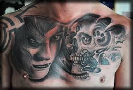 skull chest tattoos for women best home decorating ideas chest