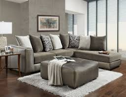 Pillow Back Sofas by Affordable Furniture 6351 6352 6355mag Magnetite 2 Piece