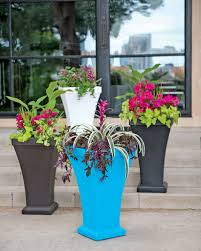 tall garden planters plastic home outdoor decoration