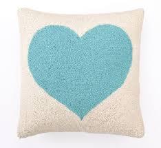 light blue heart hook pillow rosenberryrooms com
