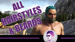 ark official update all hairstyles beards ragnarok map youtube