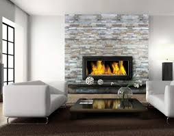 interior elegant home living room design with glass fireplace