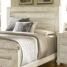 Distressed White Bedroom Furniture Progressive Furniture Willow Queen Slat Headboard With Distressed