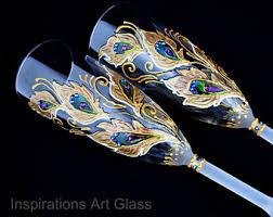 Wedding Gift Glasses Wedding Glasses Wine Glasses Champagne By Inspirationsartglass