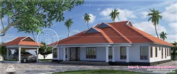 traditional kerala villa with slopping roof pattern house design