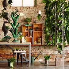 engaging assorted indoor garden design ideas having fancy pots and