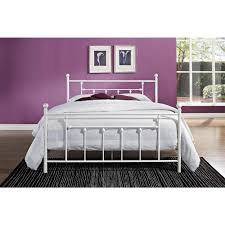 dhp manila white queen bed frame 3236298 the home depot