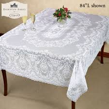 dining room luxury table combined with lace tablecloths