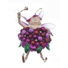 fat fairy plum queen christmas tree decoration