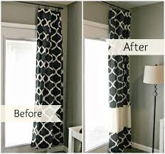 how high to hang curtains 9 foot ceiling diy inexpensive custom curtain rods creative house blog share