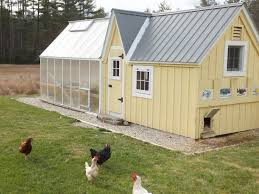 i like this green house attached to a charming coop most sites