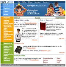books online template free website templates