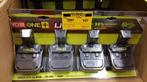 home depot ymmv ryobi one p181 18v lithium ion 4 pack clearance