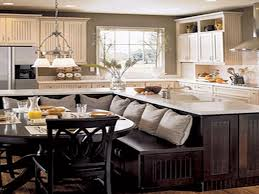 built in kitchen islands with seating sensational kitchen island with built in seating rolling narrow cart