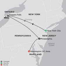 Map Of Eastern United States United States Travel Packages Cosmos Eastern Us Tours