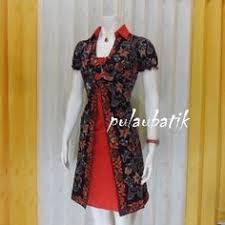 desain baju batik halus batik pesta model dress db194 bisa dipesan kembali setelah beberapa