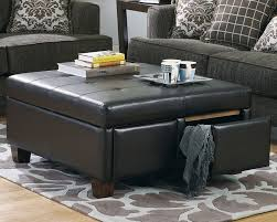 Unusual Ottomans by Coffee Table Mesmerizing Brown Leather Ottoman Coffee Table