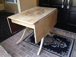 Vintage Drop Leaf Table Chalk Painted Vintage Drop Leaf Table House To Home Shabby Chic
