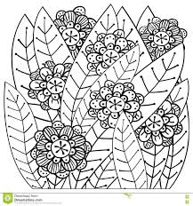whimsical garden coloring book page stock vector image