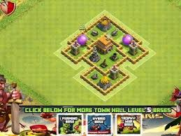 coc village layout level 5 22 best clash of clans town hall 5 layout images on pinterest town