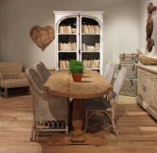Woven Dining Room Chairs Dazzling Decorating Ideas Using Round White Wooden Tables And