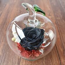 Forever Rose In Glass Dome Preserved Gold Rose In Glass For Wedding Preserved Gold Rose In