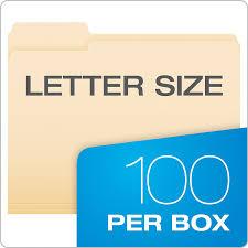 amazon com pendaflex file folders letter size 1 3 cut manila