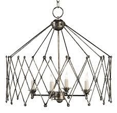 Metal Chandelier Frame Accordion Chandelier Lighting Currey And Company