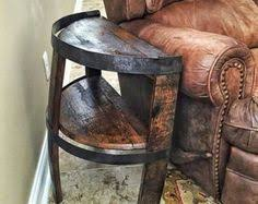 whiskey barrel side table whiskey barrel stave side table with bands whiskey barrels