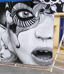 tableau portrait noir et blanc dérnières réalisations décograffeur fresque et graff