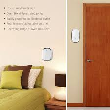 Interior Doorbell Cover Ilome Wireless Doorbell Electronic Push Button Audio Chime