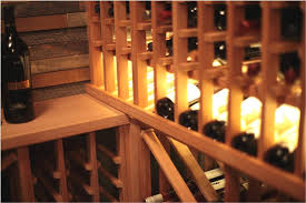 modular vancouver residential wine cellar project wooden wine racks