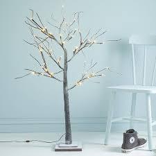 pre lit twig tree lights decoration