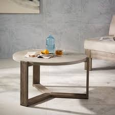 mosaic tiled coffee table solid concrete west elm