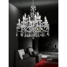 Silver Chandelier by Franklite Fl2188 12 Chiffon Silver Crystal Chandelier Love4lighting