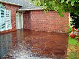 House Patio Design by Acid Stained Concrete Patio Designs Icamblog
